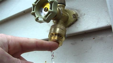 leaking outdoor faucet vacuum breaker how to drain a vacuum breaker