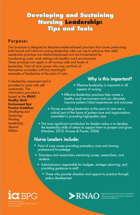 tips  tools  nurses  developing  sustaining