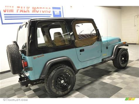 white and teal jeep 1995 teal pearl jeep wrangler s 4x4 62758206 photo 25
