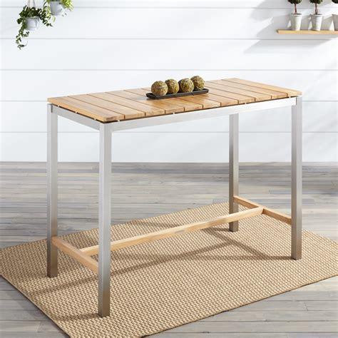 macon rectangular teak bar table teak outdoor