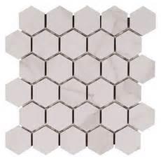 dimarmi bianco hexagon porcelain mosaic 12in x 12in
