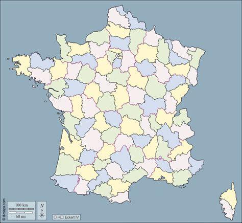 Les départements sont eux délimités par des tracés grisés à l'intérieur de la région. France carte géographique gratuite, carte géographique ...