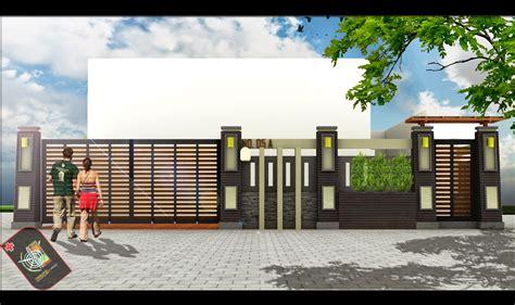 desain pagar rumah gaya modern desain properti indonesia