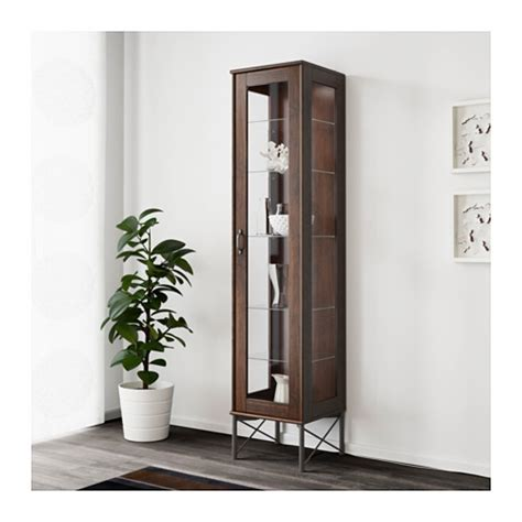 tockarp glass door cabinet brown 15x68 7 8 bathroom