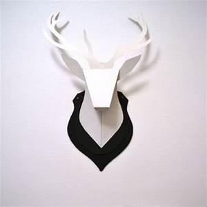Trophée Animaux Origami : diy troph e de chasse troph e de chasse ~ Teatrodelosmanantiales.com Idées de Décoration
