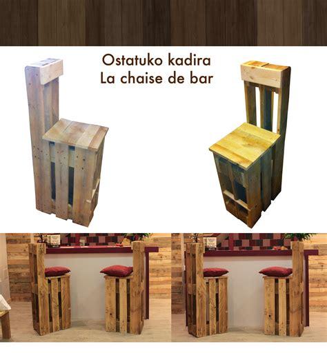 chaise en pin chaise de bar en palette möbel wohnen