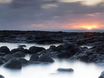 Water Near Gray Sunset Rock Salinas Formation
