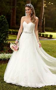 Strapless Sweetheart Lace Princess A Line Wedding Dress