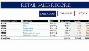 Project Pipeline Management Retail Sales Record My Excel Templates