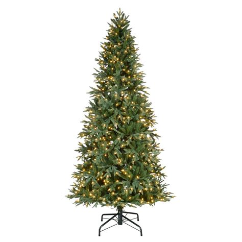 home depot 9 foot douglas fir artificial treee home accents 9 ft pre lit led meadow fir