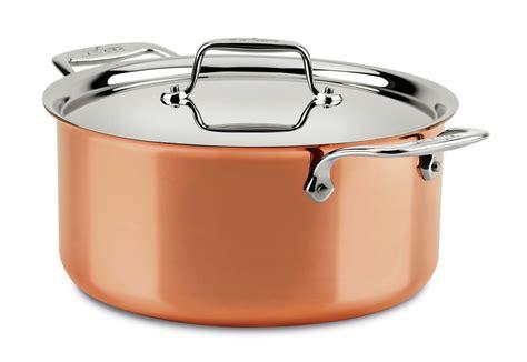 clad  copper stock pot  quart cutlery