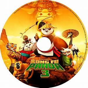 Kung Fu Panda 3 dvd cover & label (2016) R0 CUSTOM