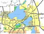 Map of Madison Wisconsin - TravelsMaps.Com