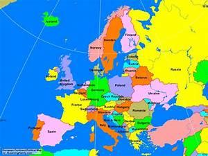 Europe Political Map   Thefreebiedepot