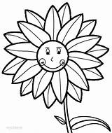 Sunflower Coloring Pages Sunny Printable Drawing Sunflowers Sheets Cool2bkids Clip Template Colouring Flower Scouts Yellow Adult Templates Months Summer Colour sketch template