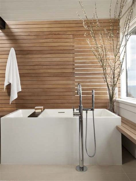 Modern Spa Bathroom by Design Decorating Modern Bathroom With Teak
