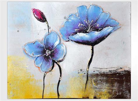 tableau moderne fleurs stylisees