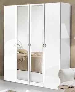 Armoire Chambre Blanche : armoire 4 portes athena chambre a coucher blanc ~ Teatrodelosmanantiales.com Idées de Décoration