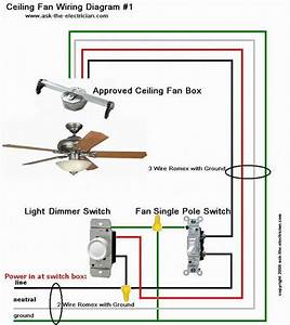 Ceiling fan wiring diagram for the home