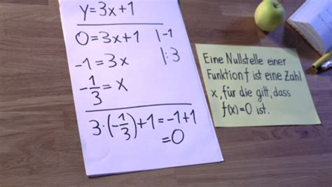 nullstellen linearer funktionen berechnen  klappts