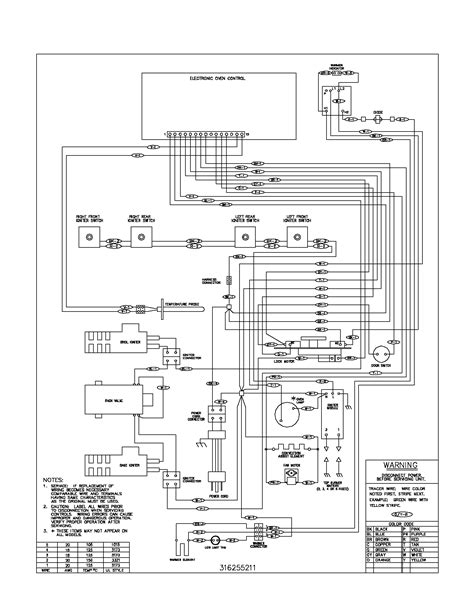 frigidaire wall oven wiring diagram sle
