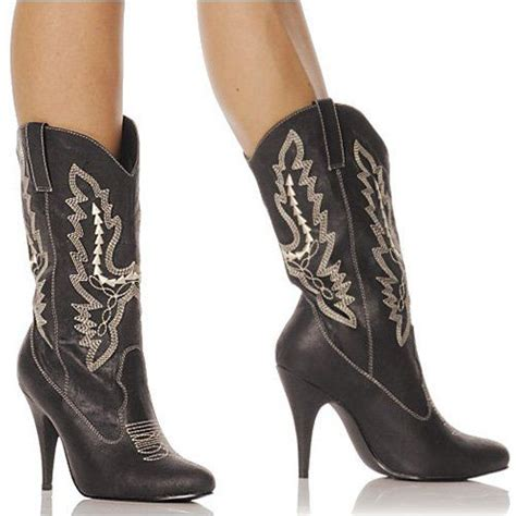 Fashion Ten Black Boots For Women Cowgirl