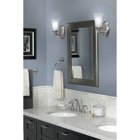 moen ybbn eva brushed nickel towel rings bathroom