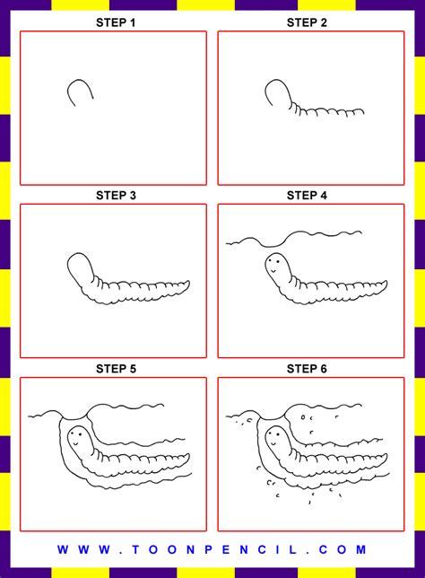 draw worm  kids step  stepgif
