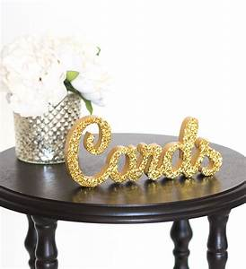 Cards Sign for Wedding Gift Table Freestanding