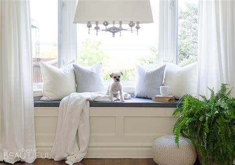 Kitchen Bay Window Seating Ideas - diy window bench with storage a burst of beautiful