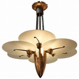 Unique art deco chandelier at stdibs