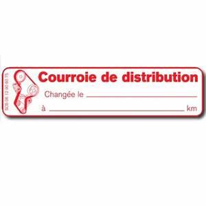 Courroie De Distribution 106 : etiquettes courroie de distribution tiquette autocollante ~ Gottalentnigeria.com Avis de Voitures