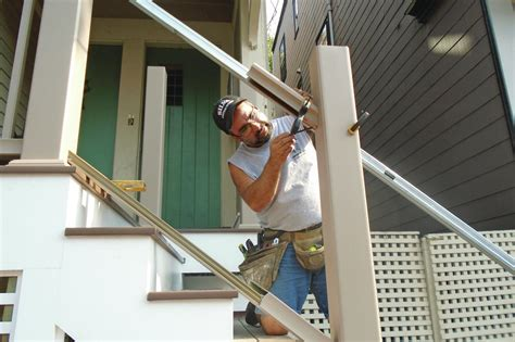 installing  composite rail kit professional deck builder