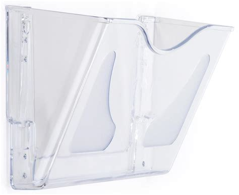 clear acrylic wall file folder mounting hardware included