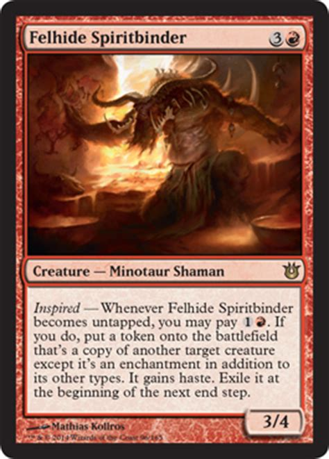 scd felhide spiritbinder cube card and archetype