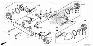 Honda Motorcycle 2014 Oem Parts Diagram For Turn Signal  1