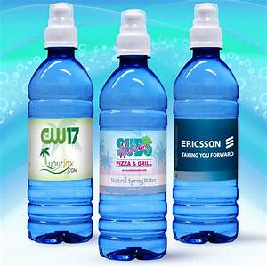 169 oz custom label spring water w sport top blue With bottled water custom label wholesale