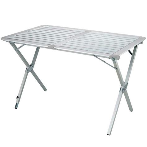 table mobilier cing table cing aluminium mate 122 cm highlander