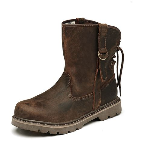 leather motorcycle shoes 2015 men boots soild cowboy motorcycle boots fashion men