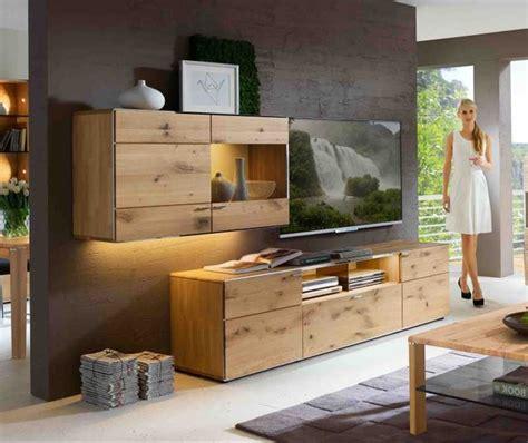 Wohnzimmer Eiche Modern by Wohnzimmerschrank Eiche Massiv Komplett Mit Tv Lowboard
