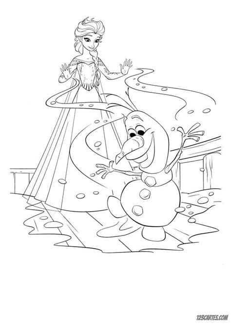 coloriages de la reine des neiges  cartes