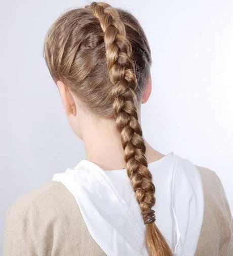 zopf flechten  straenge haare