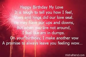 Happy Birthday My Love, Wife Birthday Poem