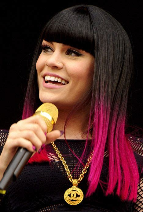 Jessie J Pink Dip Dye Hair Dip Dye Hair Pink Ombre