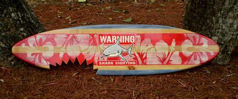 decorative surfboard with shark bite shark bite sign 3 foot vintage horizontal surfboard wall