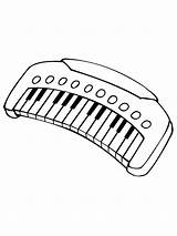 Coloring Musical Instruments Instrument Printable Mycoloring sketch template