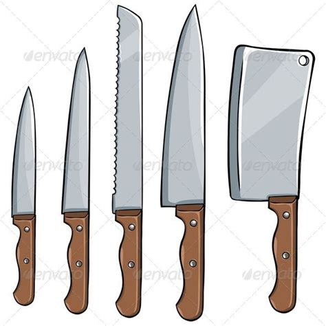 awesome kitchen knives vector set of kitchen knives painting inspiration