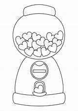 Cute Coloring Pages Easy Print Candy Tulamama Machine sketch template