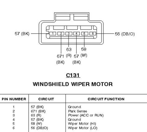 1994 Ford F 150 Wiper Motor Wiring by 1997 Ford F150 Wiper Motor Wiring Diagram Wiring Diagram