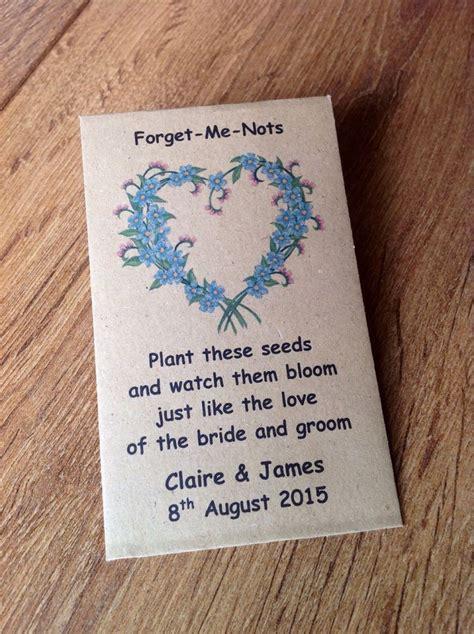 personalised forget   flower seed envelopes